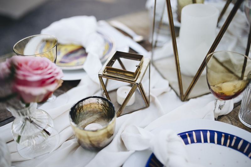 geometric lanters studio fleurette minneapolis mn wedding florist, boho lanterns