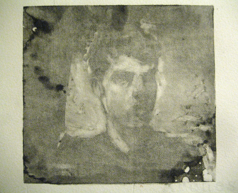 Self-portrait, monotype, 2014