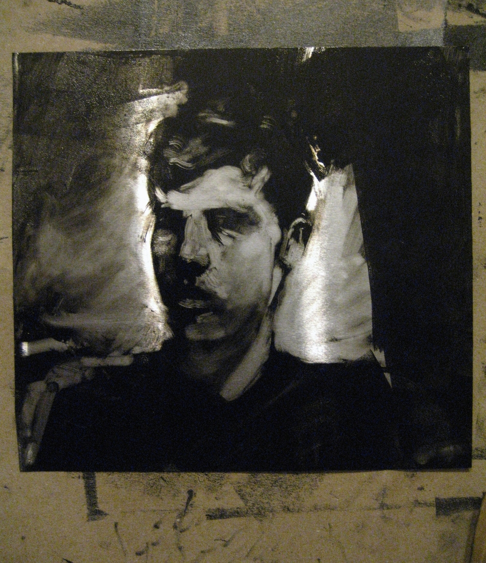 self-portrait, plate