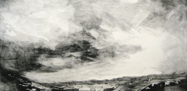 "Overhead from All Directions, Monotype, 6""x12"", 2013"