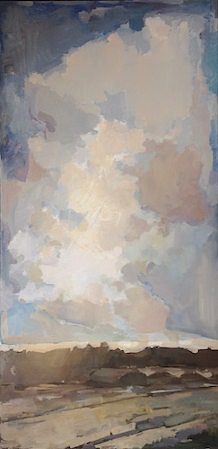 "Softly in Agreement, Oil on Panel, 48""x24"", 2015"