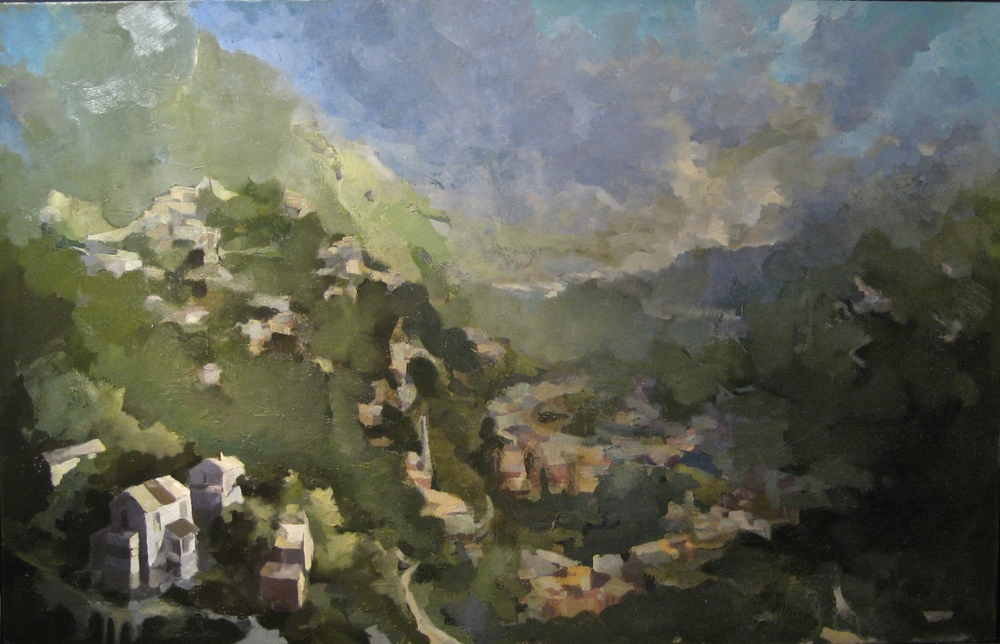 "Acony Bells (6), 2014, oil on canvas, 54""x84"""