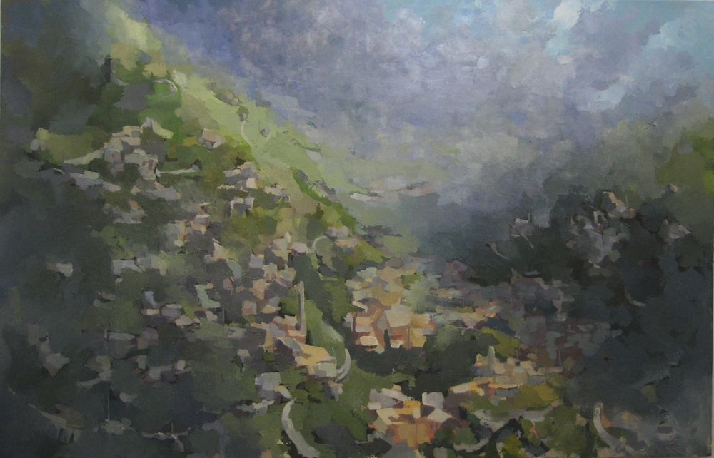 "Acony Bells (5), 2014, oil on canvas, 54""x84"""
