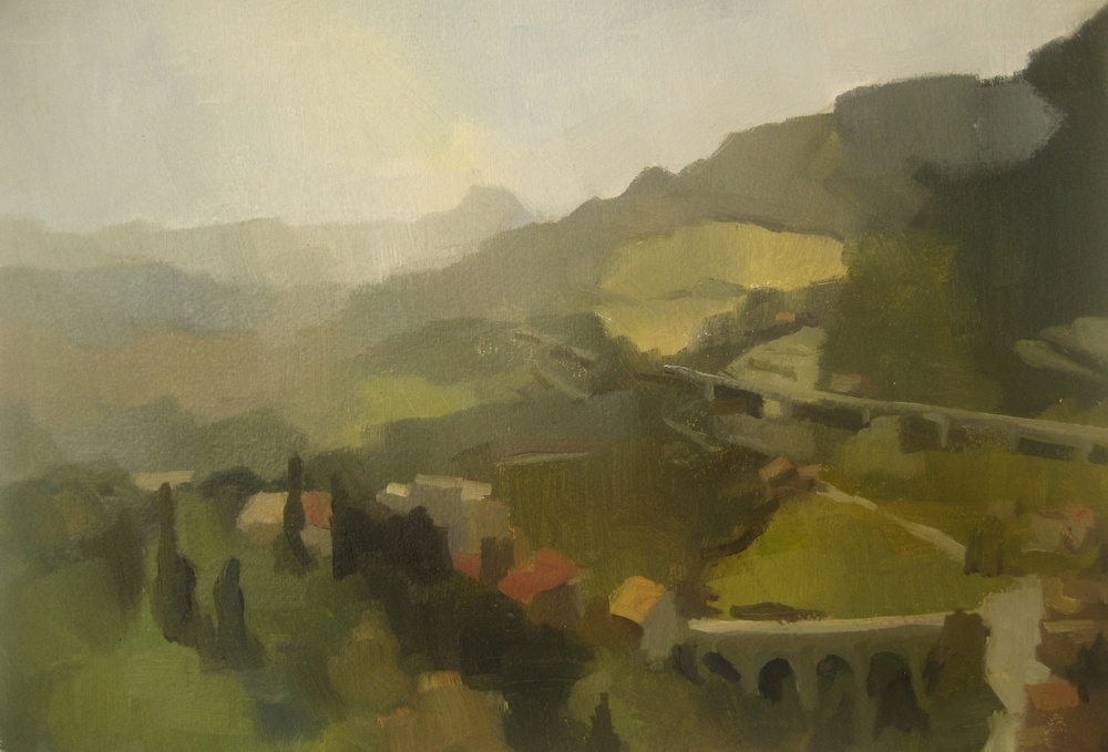 Autostrada, 2013, oil on paper