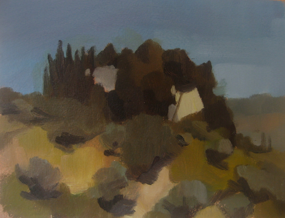 Fortezza Pia, 2013, oil on paper
