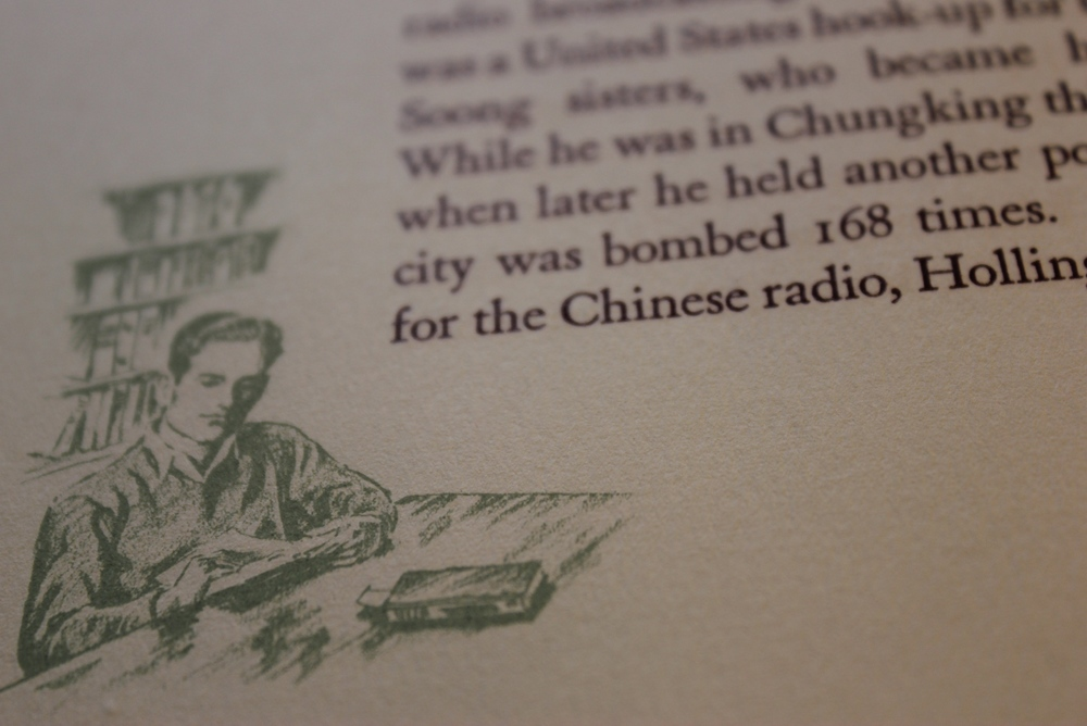 An illustration from a memorial book about Melville Jacoby.