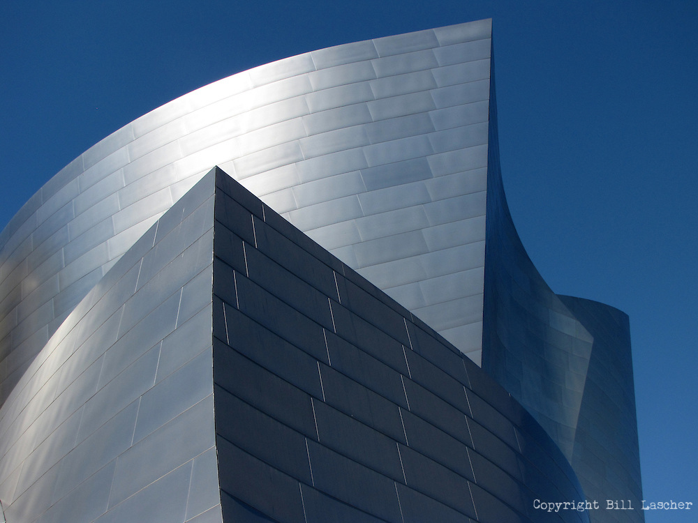 Frank Gehry's iconic style shines through the Walt Disney Concert Hall in Los Angeles. (Photo by Bill Lascher).