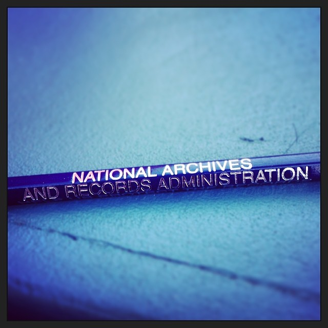 A pencil from  the National Archives and Records Administration. ( Photo by Bill Lascher ).