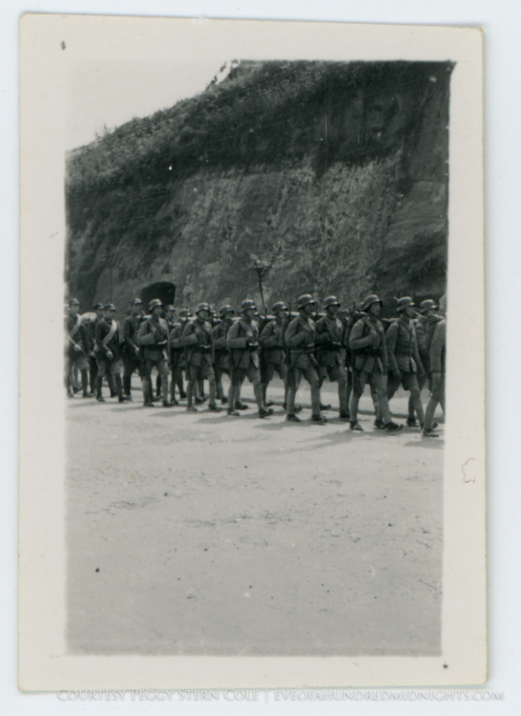 Chinese soldiers marching on Chungking Street.jpg