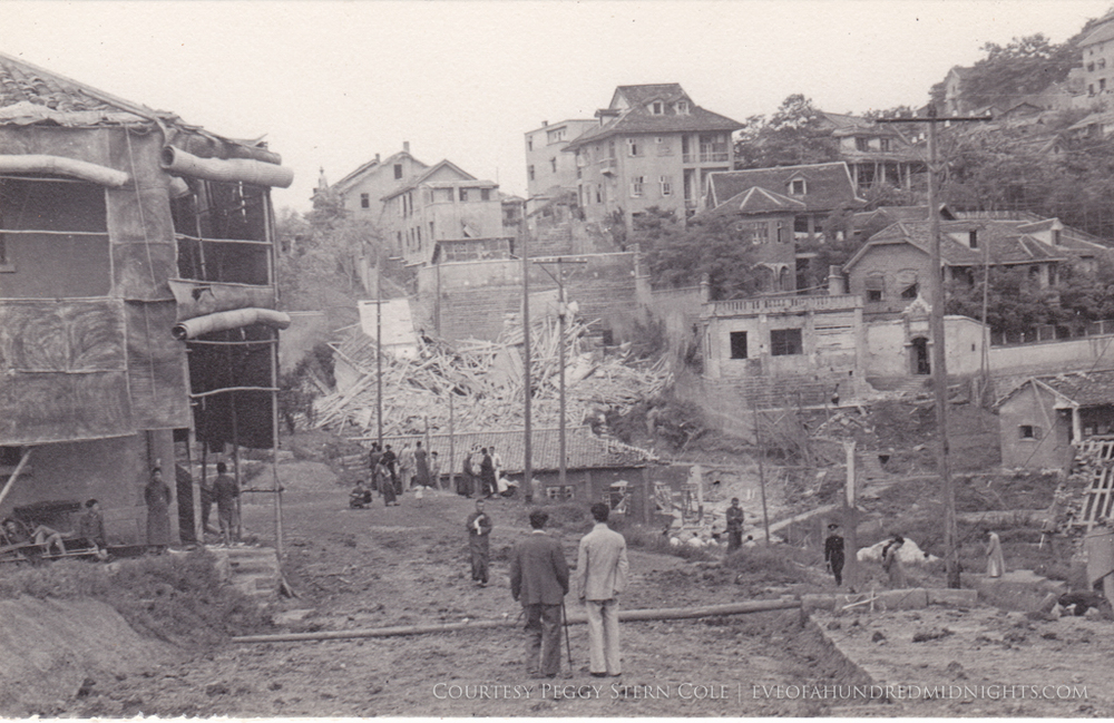 Chungking Rubble and Houses View With Men Standing.jpg