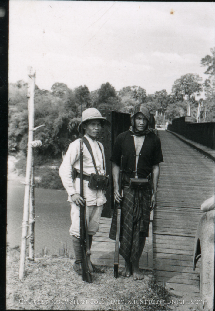 Indochina Soldiers guarding Bridge.jpg