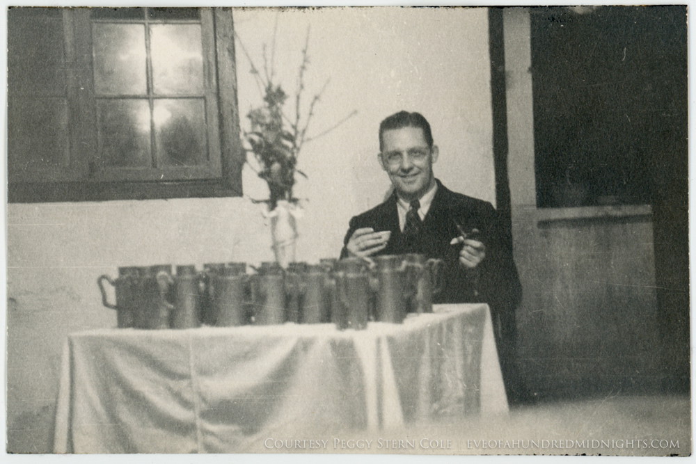 Randall Gould With Beer Tankards at His Party.jpg