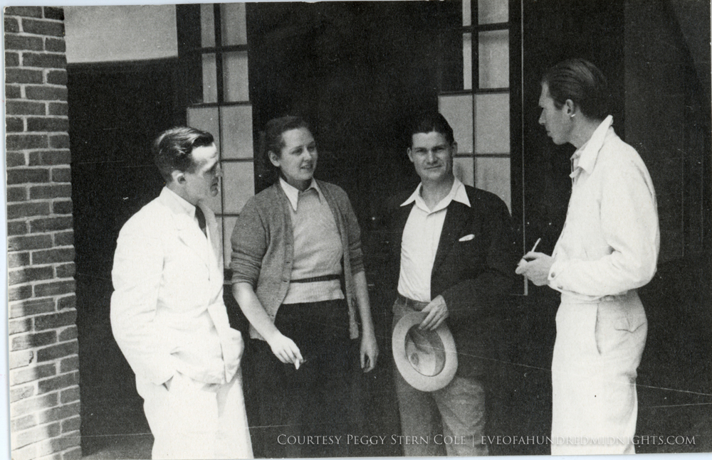Wright Stewart Emmerson and Other Reporter Outside Hostel.jpg