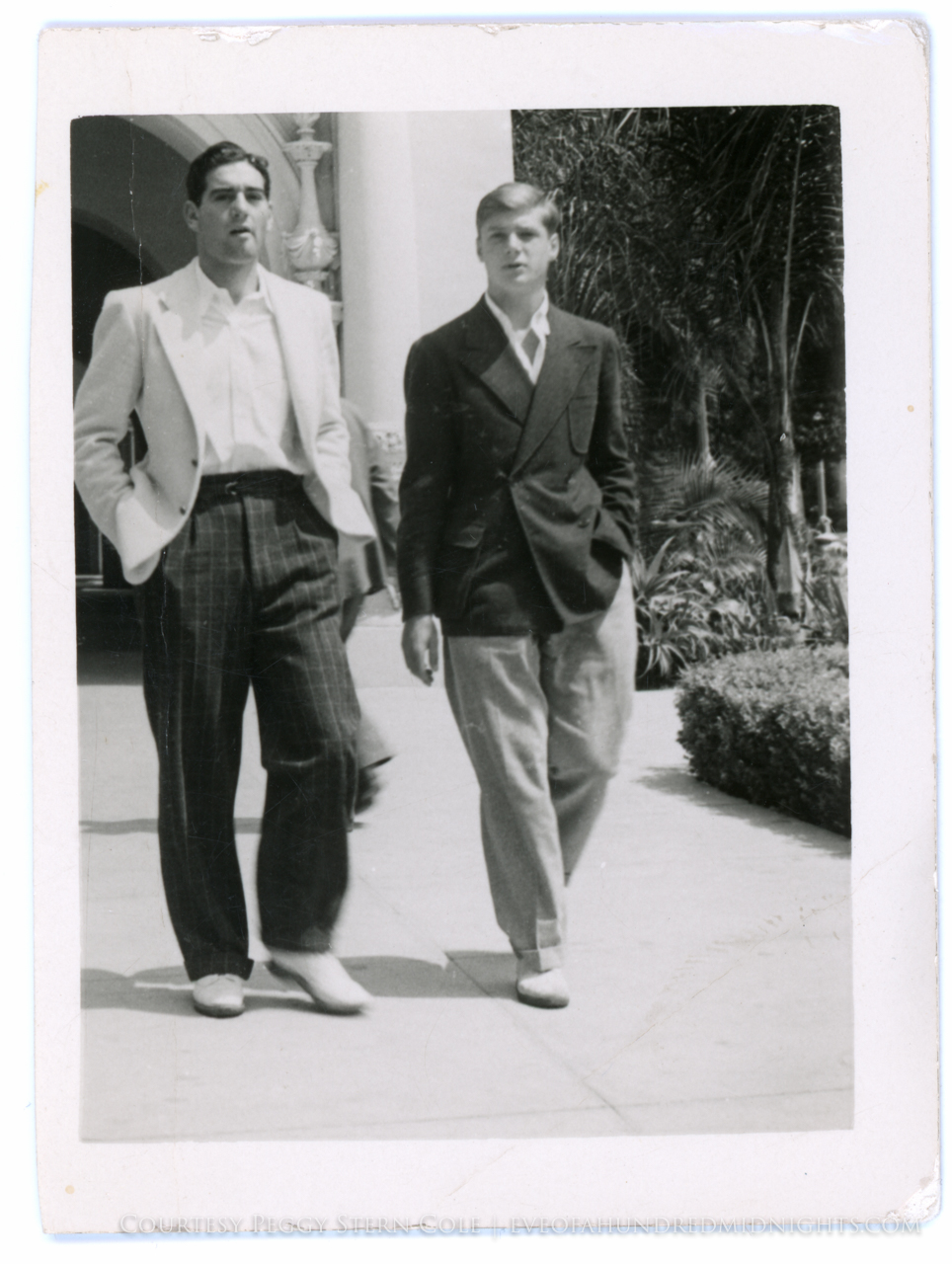 Melville Jacoby and a friend at Stanford