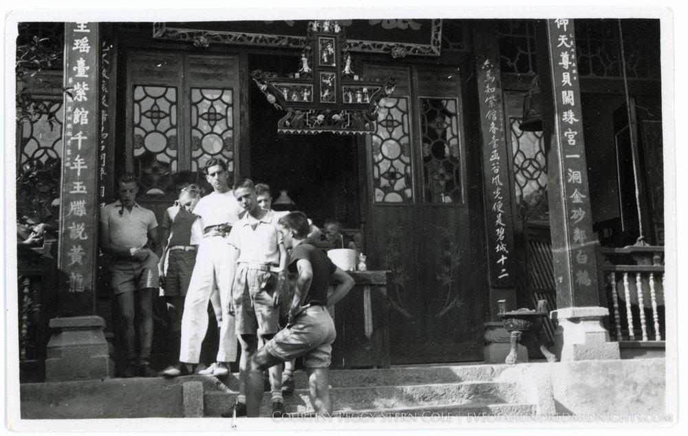 Mel Outside a Monastary
