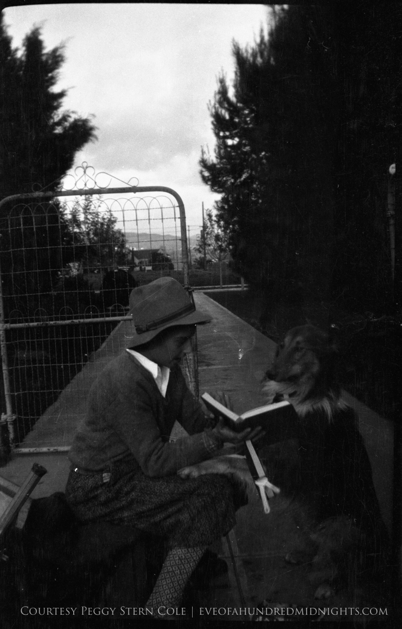 Mel reading to a dog