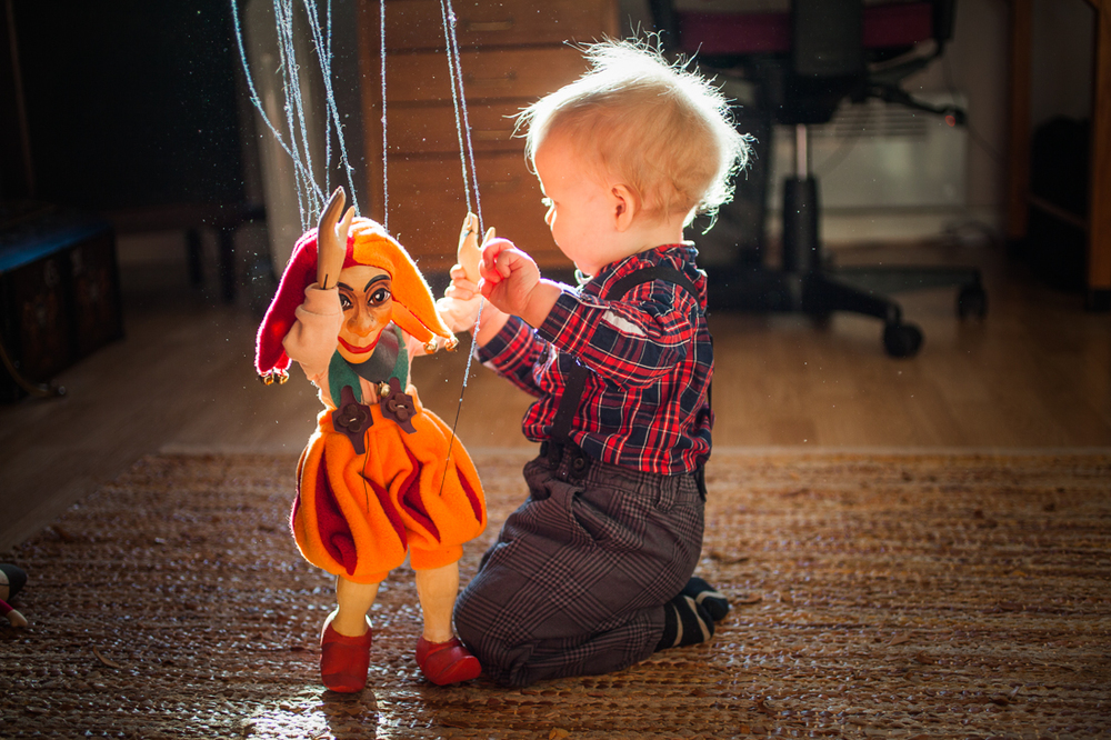 Playing with puppet. Oslo, Norway 2013.