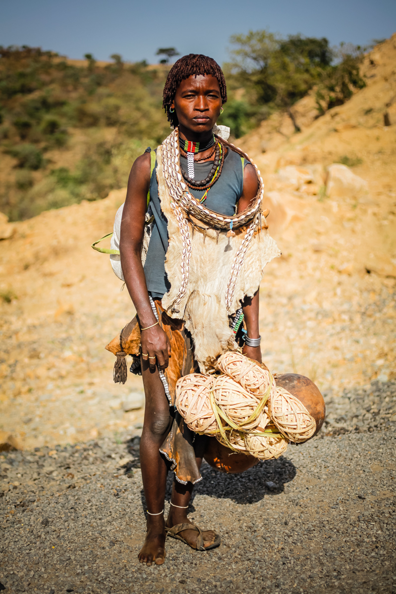 Hamer woman, Omo valley, Ethiopia 2012.