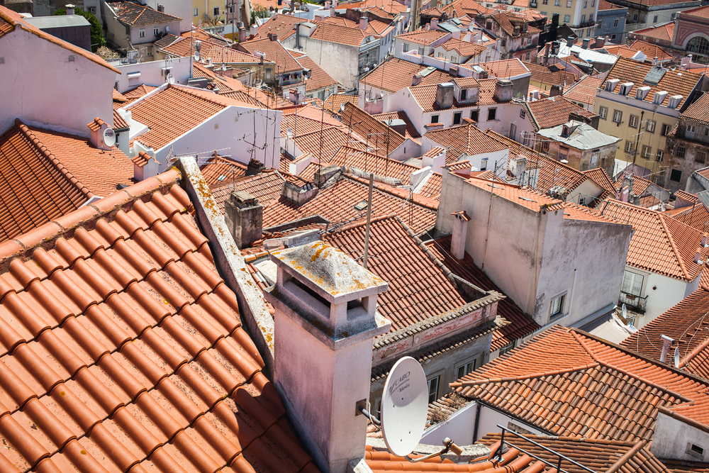 Rooftops of Alfama. Lisbon, Portugal 2015.