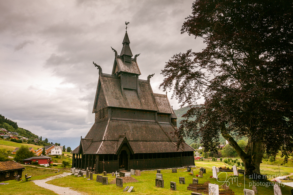 Hopperstad stave church in Vik, Sogn og Fjordane. One of the oldest stave churches dating back to 1125 AD.