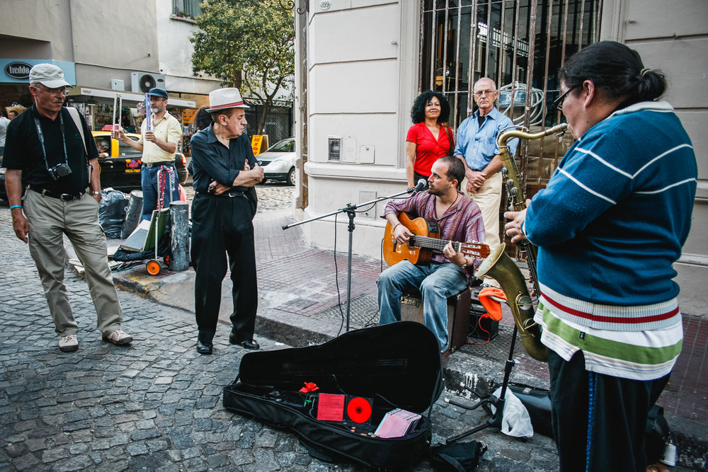 Musicians in the San Telmo neighborhood.