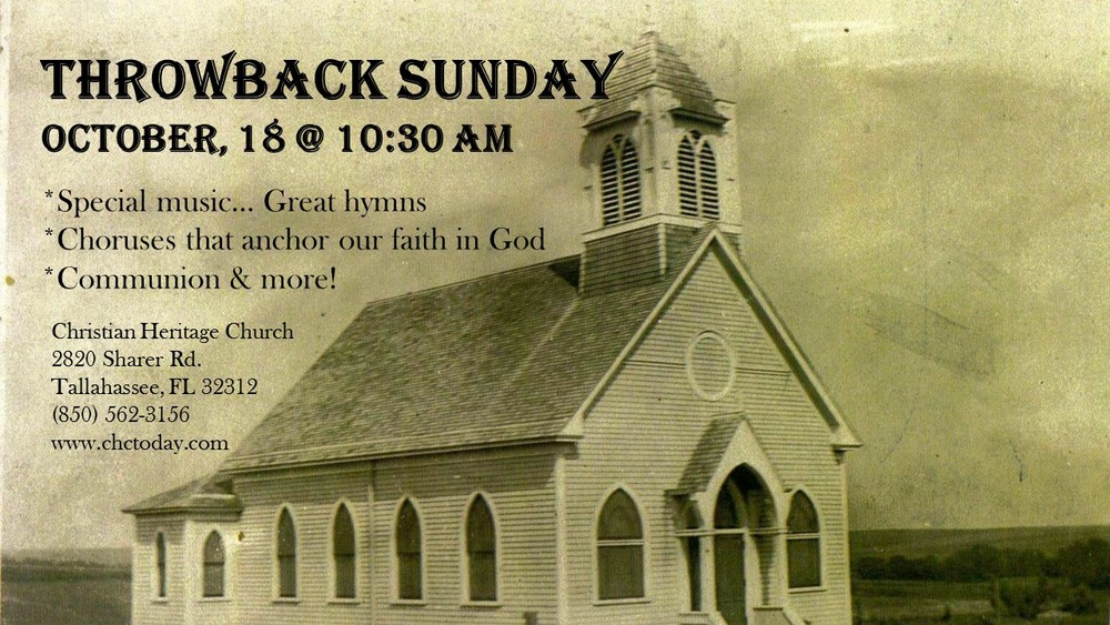 We will have Praise & Worship old school style... Those classic great hymns and choruses that anchor our faith in God,powerful Word and Communion Service! Bring a friend!