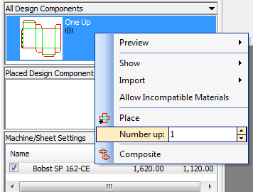Add differing quantities of design components to speed up and simplify composite layout creation.