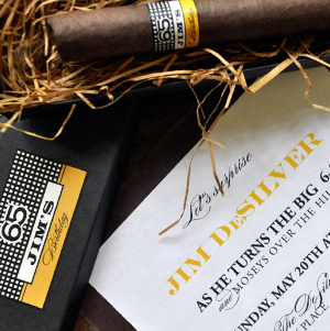 cigar party invitation