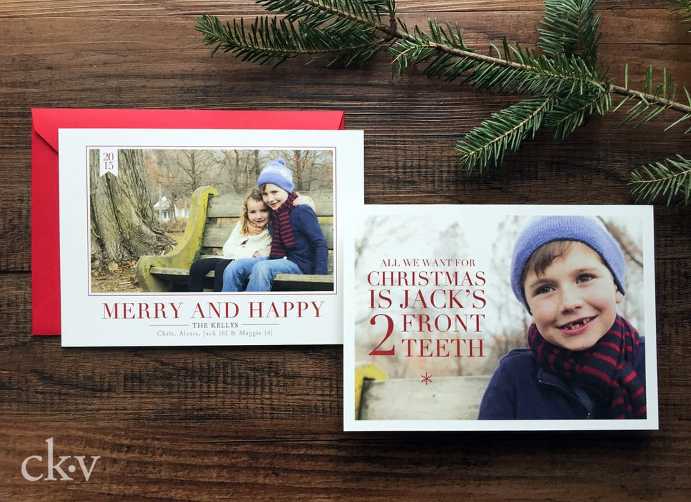 All I want for Christmas is my two front teeth Christmas Card
