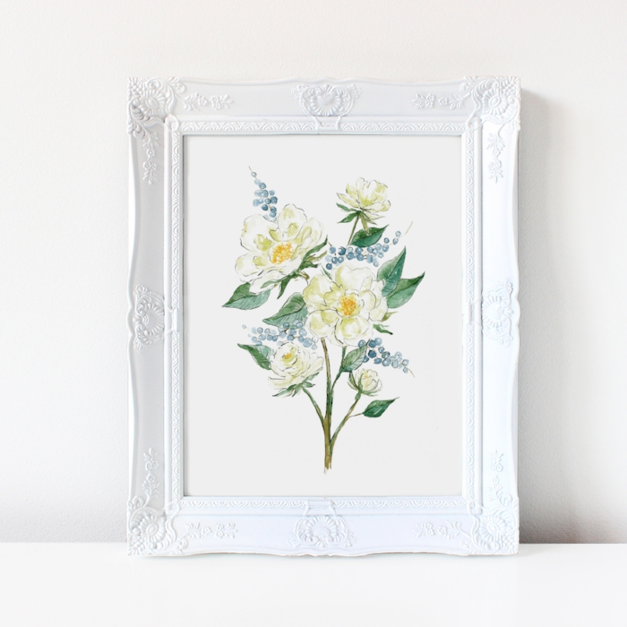 brand-new-spring-floral-watercolor-print-for-sale-by-Catherine-Kiff-Vozza