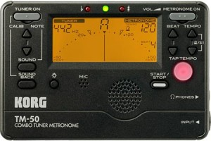 Korg Combo Tuner/Metronome For All Instruments /// Under $35 Tuners and metronomes are a must for the serious music student. The Korg Combo combines the uses of the tuner and metronome, separately or simultaneously.