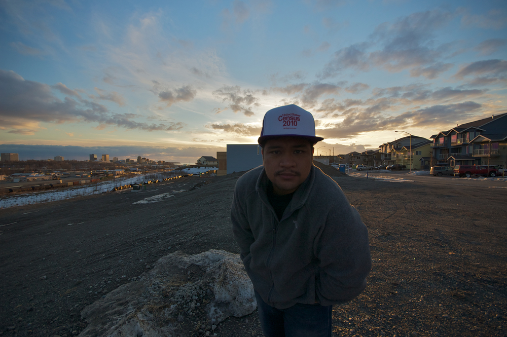 Selfie, Government Hill, 2011 before more houses were built to ruin the view.