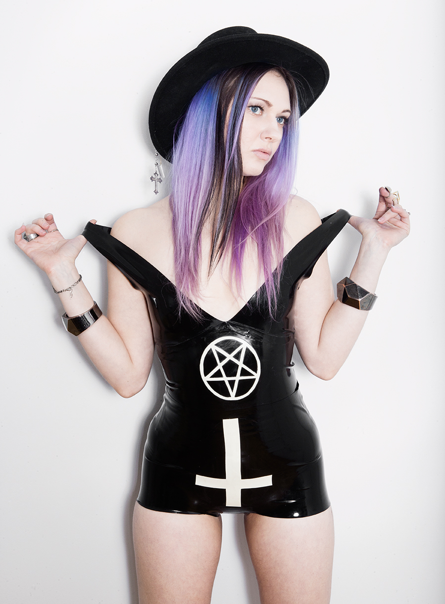Reneé Masoomian Pentagram Tank & Cross Shorts