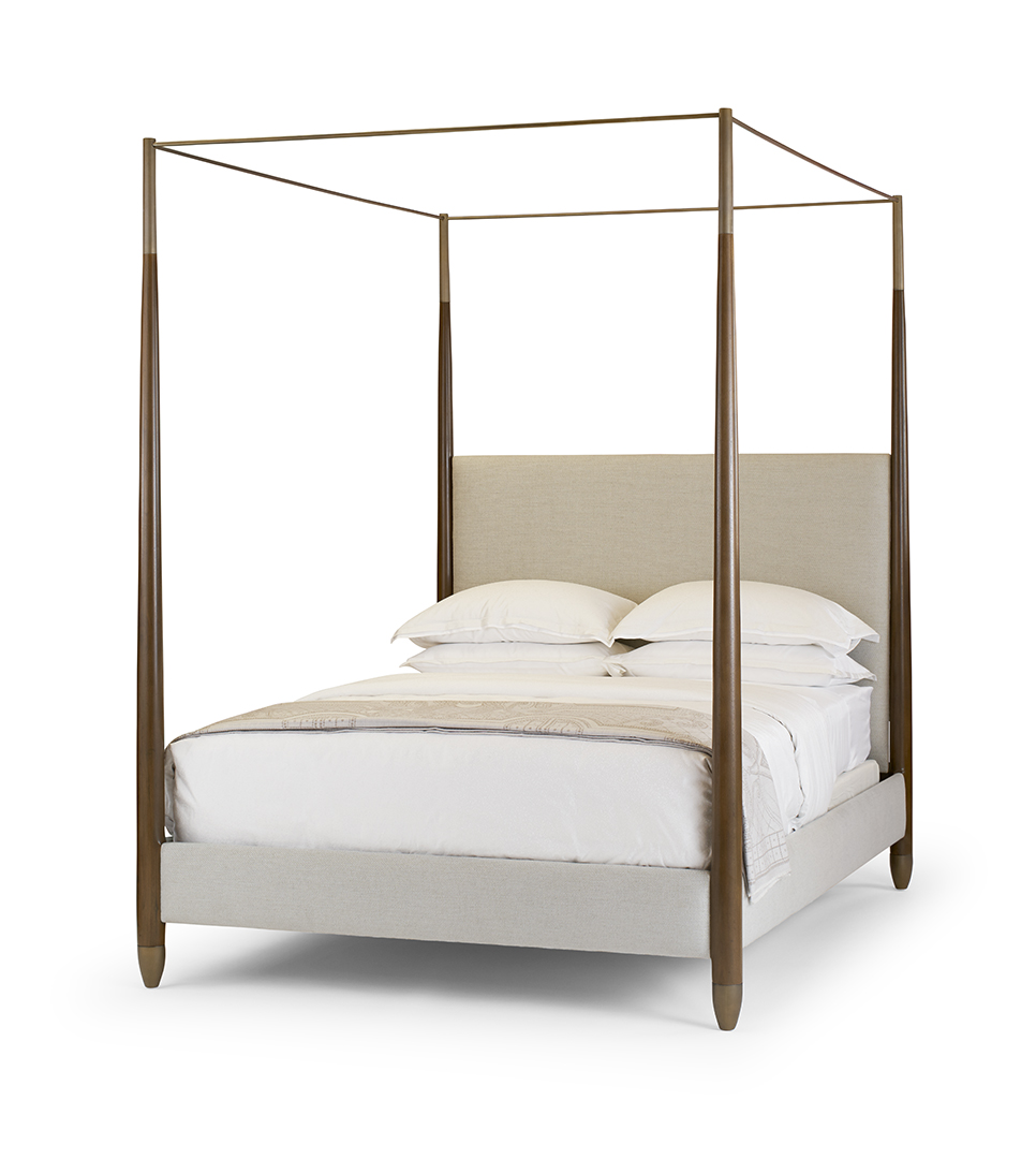 Paloma Bed, Walnut & Brass