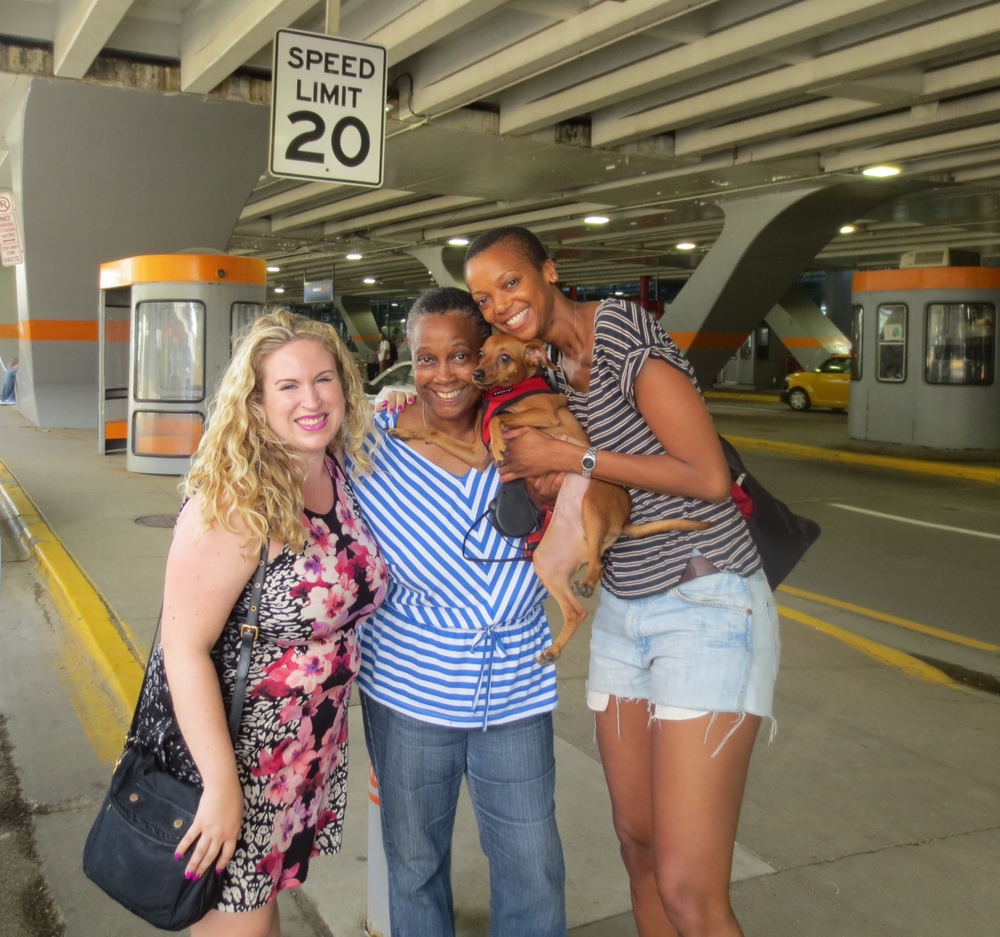 After surprising my mom at the O'Hare.