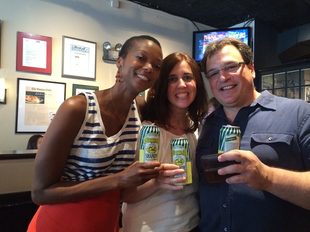 Enjoying a local summer brew in Boston w friends.