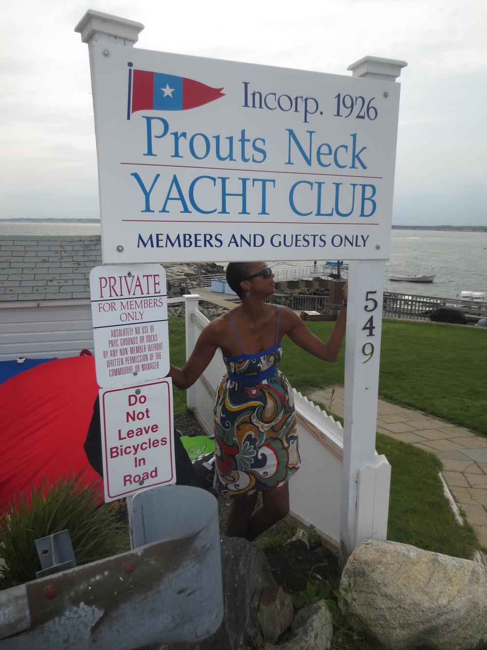 Maine yacht clubbin'.