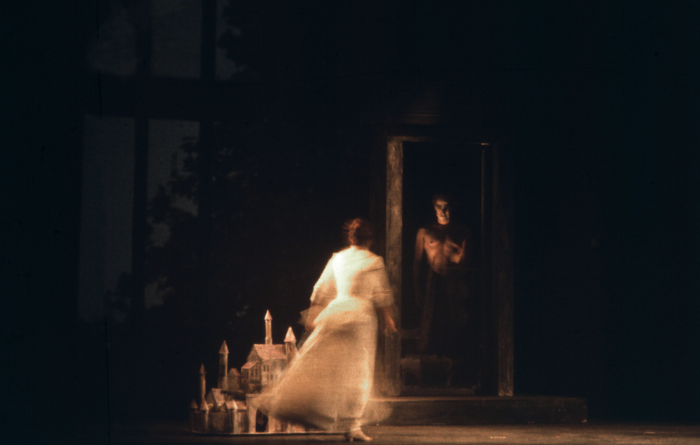 Peter Quint, the ghost, appears to the governess.