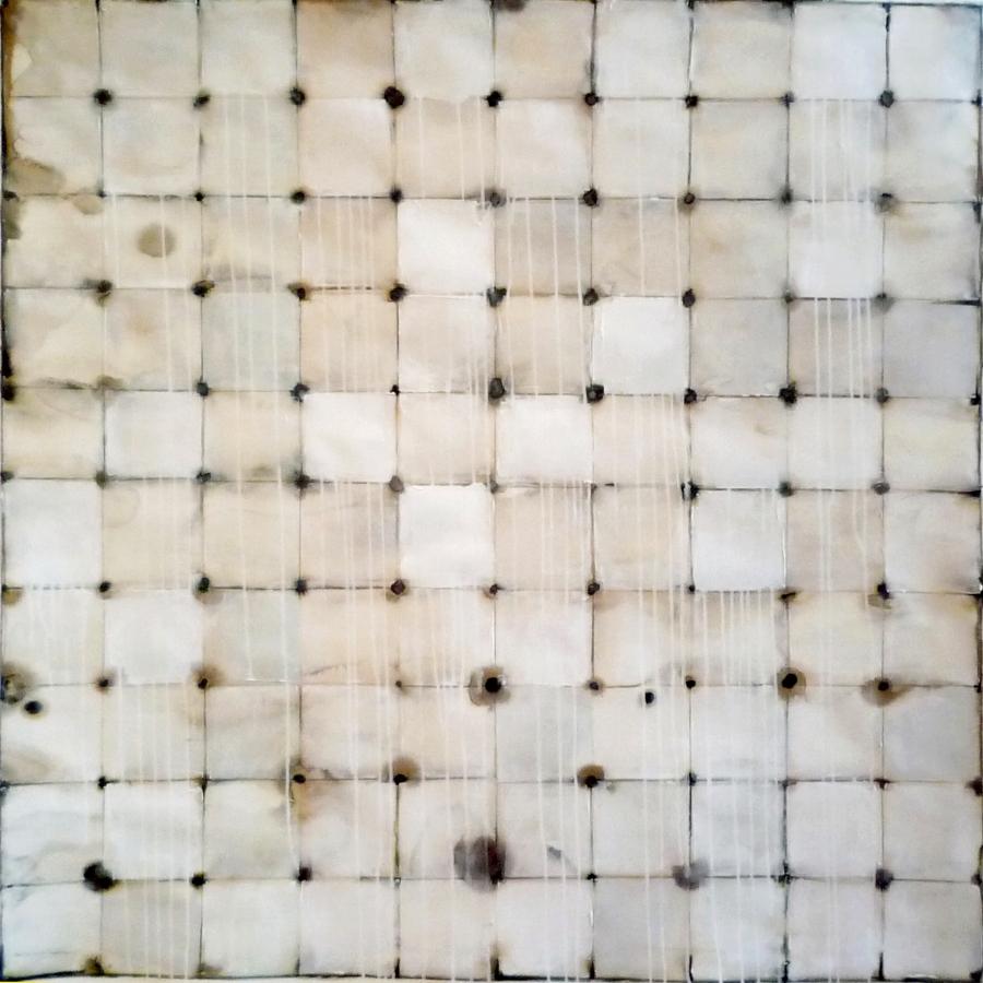 APRIL GRID SEPIA  2015  5' x 5'