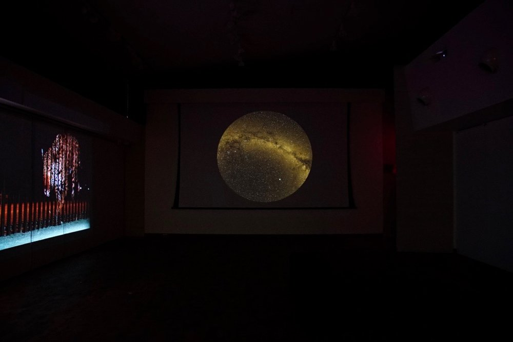 Tension and Territory , Installation view:  Un-Fragmenting/Des-Fragmentando  and  Life/Death , Mesa Community College Gallery, Mesa, Arizona, 2017  Photo Credit: Kendra Sollars
