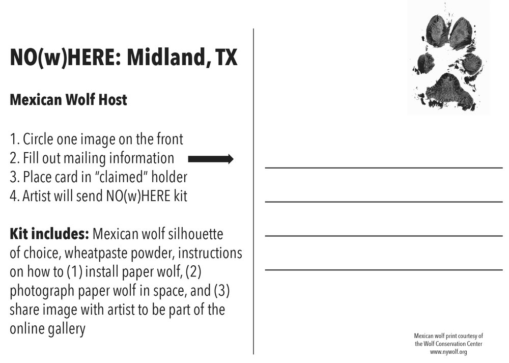 Wolf Host: Midland, Texas,  postcard back, 113 cards, 2017