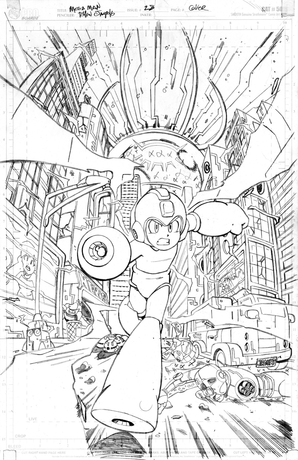 Mega Man Issue #28 Cover Pencils