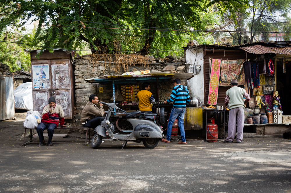 Tea stands everywhere in India. A place to sip a chai or chow on some pakoras, samosas or many of the other delicious street eats.