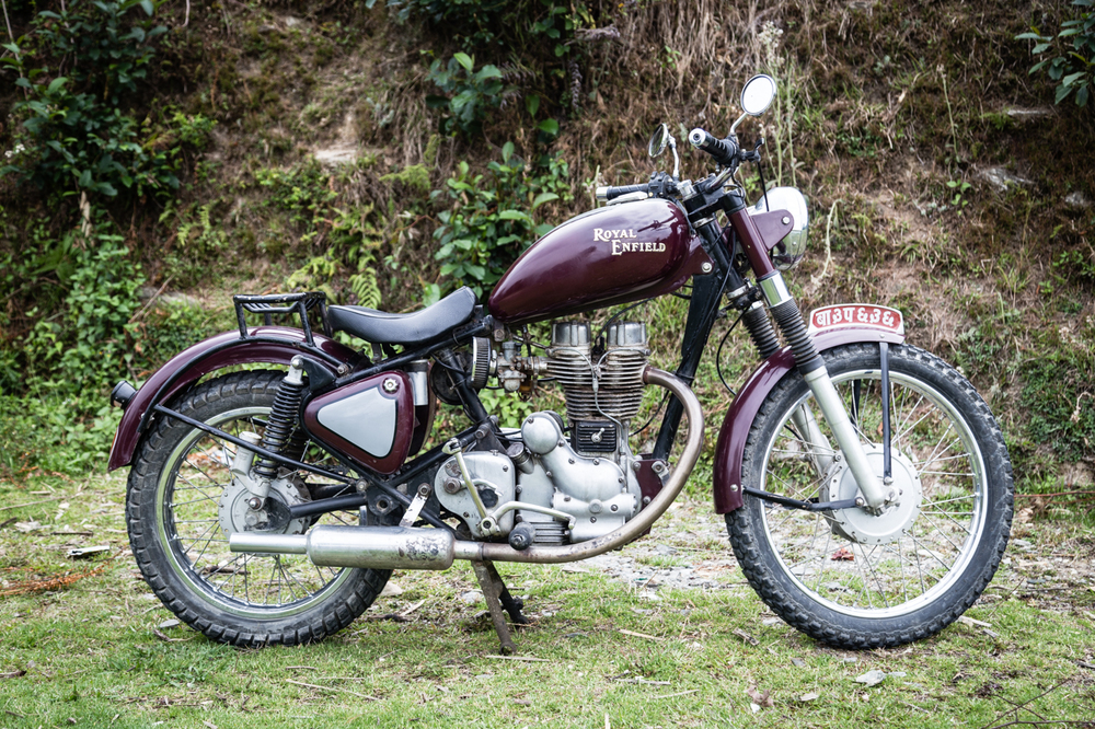 The Classic Royal Enfield Bullet 350.