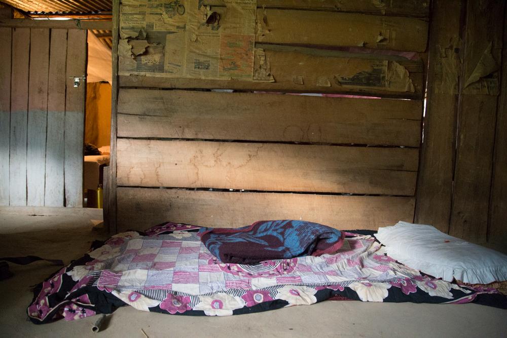 First nights sleep on the floor in a barn.