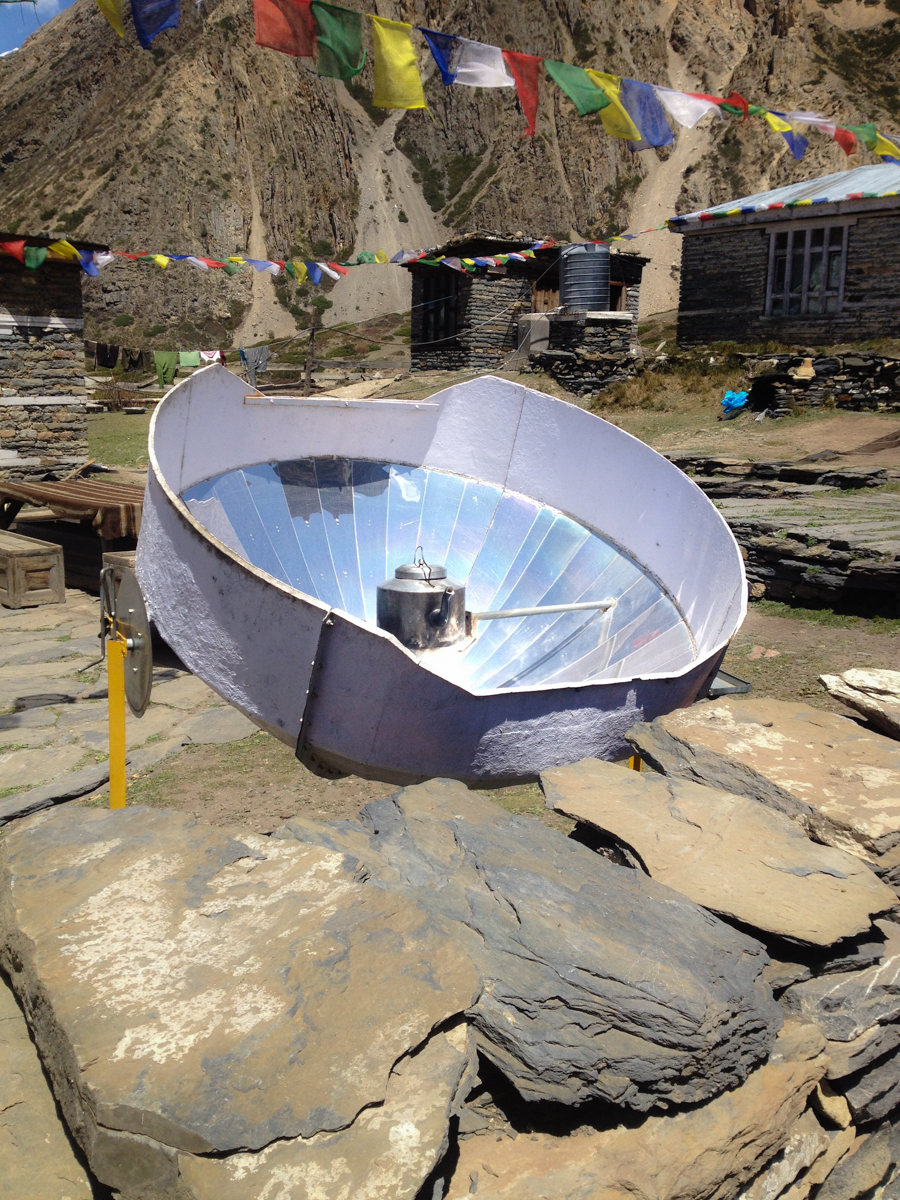 Clever sun powered device used for several purposes.