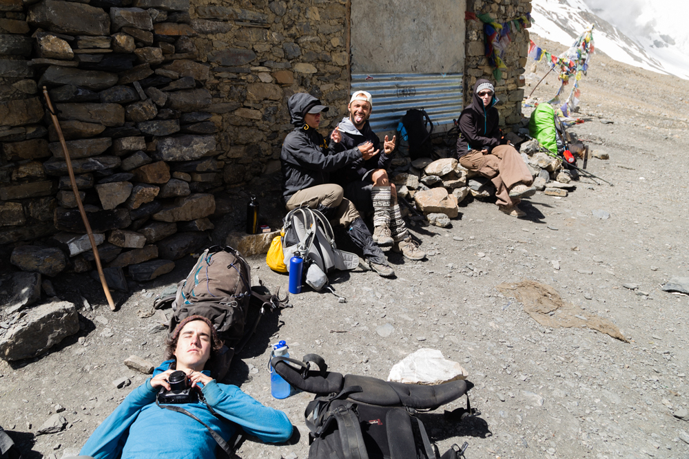 Success, celebration & exhaustion with some shelter from the high winds.