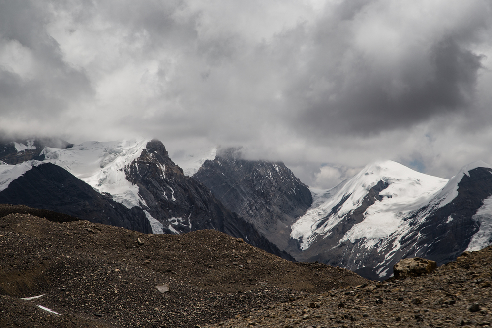Purkung Himal range hours later from the highpass.