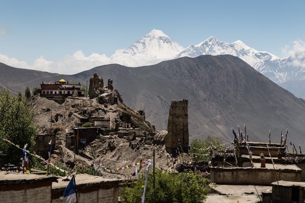 Gompa & castle of Jharkot.