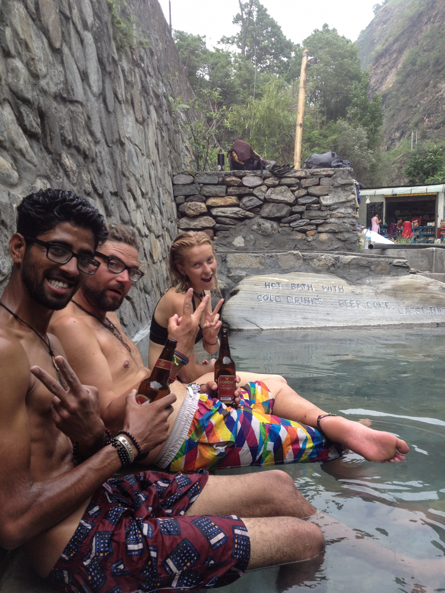 The much needed and deserved beers & hot springs of Tatopani.